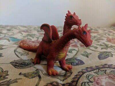 """2005 Giocattolo Maior 8"""" In Gomma Morbida Due Teste Dragon Fire Drake Figura Spedizione Gratuita-mostra Il Titolo Originale Sconti Prezzo"""