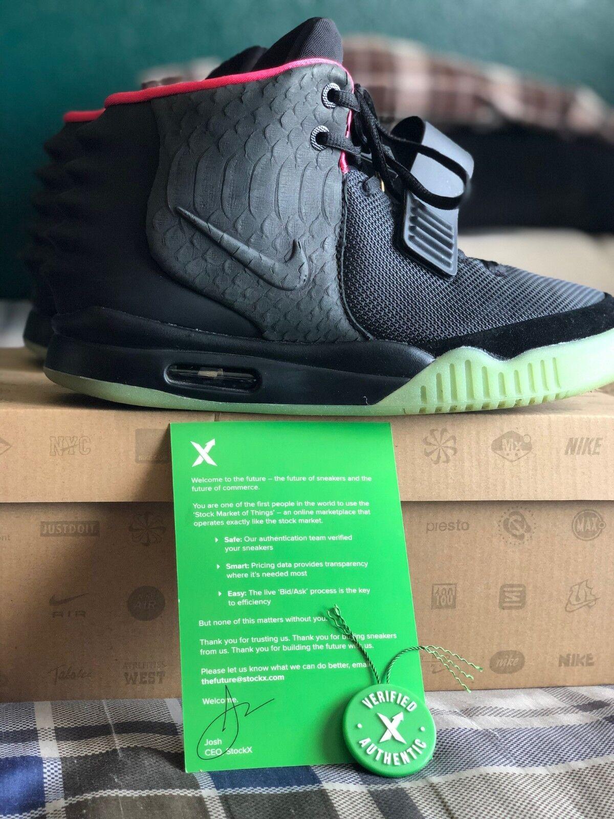 Nike Air Yeezy 2 Solar Red STOCK X VERIFIED