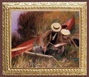 Details about ARTIST PAINTING Dollhouse Miniature Picture - MADE IN AMERICA  - FAST DELIVERY