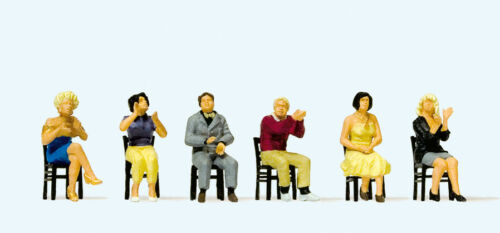 """Preiser 10624 H0 Figuren /""""Sitzende Zuschauer applaudierend/""""  #NEU in OVP##"""