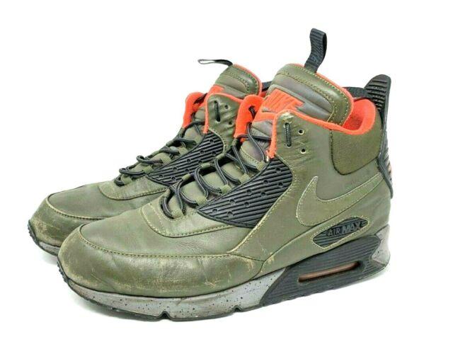 Men's Nike Air Max 90 Sneakerboot WNTR Shoe Sz 11 684714 200 BlackBrown