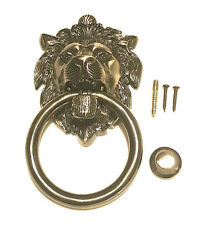 Large Brass Lions Head Door Knocker (7.5 inches) Antique Brass finish heavy duty