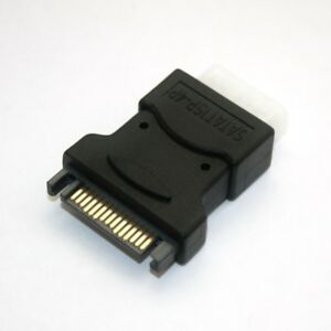 15pol SATA Buchse IDE Strom-Adapter 5,25 4pol Molex klein ATX Netzteil PC intern