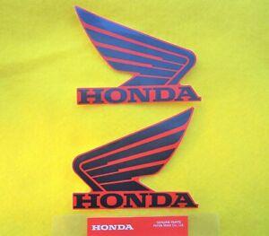 2 x GENUINE Honda Fuel Tank Decal Wings Sticker SILVER /& BLACK 100mm x 80mm