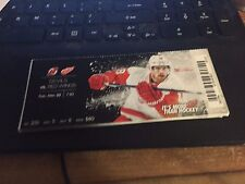 2015 DETROIT RED WINGS VS NEW JERSEY DEVILS TICKET STUB 12/22 JOAKIM ANDERSSON
