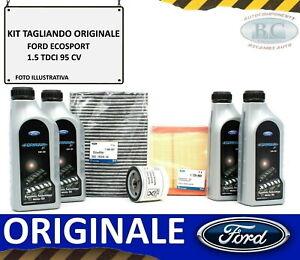 KIT TAGLIANDO OLIO FORD + 4 FILTRI ORIGINALI FORD ECOSPORT 1.5 TDCI 95 CV