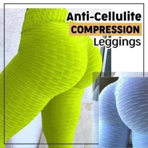 Women Yoga Gym Anti-Cellulite Leggings Fitness Ladies Butt Lift Elastic Pants ❤