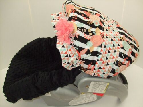 PEACH,CORAL,MINT CANOPY//MINKY INFANT CAR SEAT COVER//GRACO FIT/&custom most brands