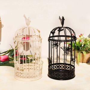 Vintage Metal Bird Cage Candle Holder Stand Hook Lantern Wedding