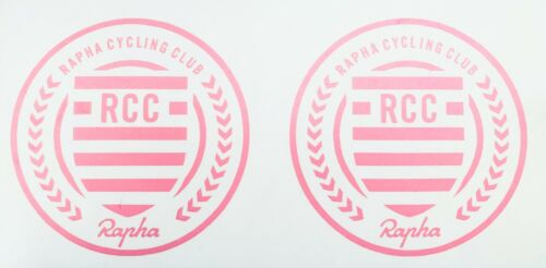 White Or Black 90mm X 90mm New 2 x Rapha RCC Cycling Vinyl Decal Stickers Pink