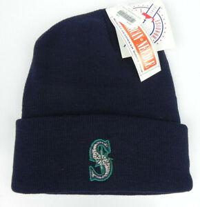 SEATTLE-MARINERS-NAVY-MLB-CUFFED-VINTAGE-KNIT-SKI-BEANIE-WINTER-CAP-HAT-NEW