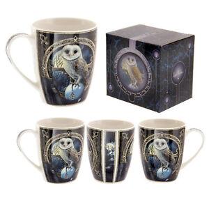 Fantasy-Tasse-Eule-Kaffeetasse-Kaffeebecher-Becher-Mug-Teetasse-Vogel-Tier-NEU