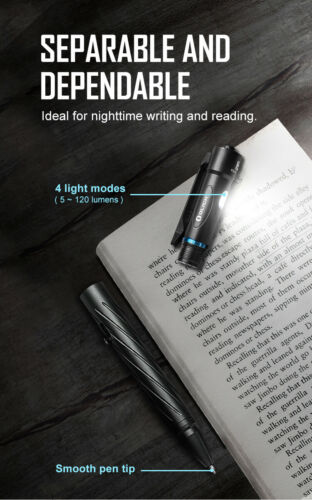 Olight OPEN 2-120LM Rechargeable Flashlight Pen DHL Express Shipping!