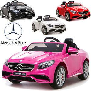 petite voiture lectrique pour enfant mercedes s63 version luxe 12v roues eva ebay. Black Bedroom Furniture Sets. Home Design Ideas