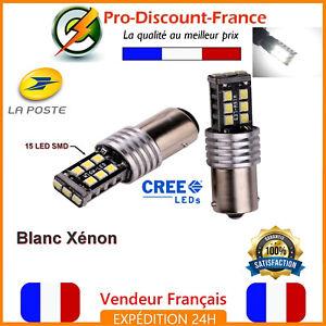 2-x-ampoule-15-LED-BA15S-1156-P21W-BLANC-XENON-VOITURE-Feux-Recul-Jour-SMD