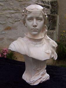 Buste-statue-Jeanne-d-039-Arc-patine-pierre-fabrication-artisanale-francaise