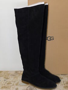 5a47b605431 NEW NIB WOMENS SIZE 9 BLACK UGG LOMA OVER THE KNEE SUEDE BOOTS ...