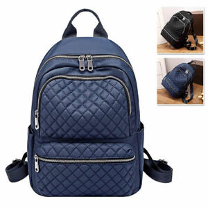 Great-Quality-Water-Resistant-Quilted-Nylon-Backpack-Rucksack-Daypack-Travel-Bag