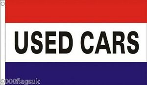 USED CARS Shop Sign Advertising POS 5'x3' Flag