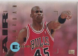 new styles 40f85 82baf Details about Michael Jordan #45 CHICAGO BULLS JERSEY Air Basketball  E-Motion $$ Card MINT
