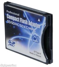 Shopdigi SD/SDHC/SDXC to CF Type II Adapter Reader for 16/32/64/128 GB SD eye-fi