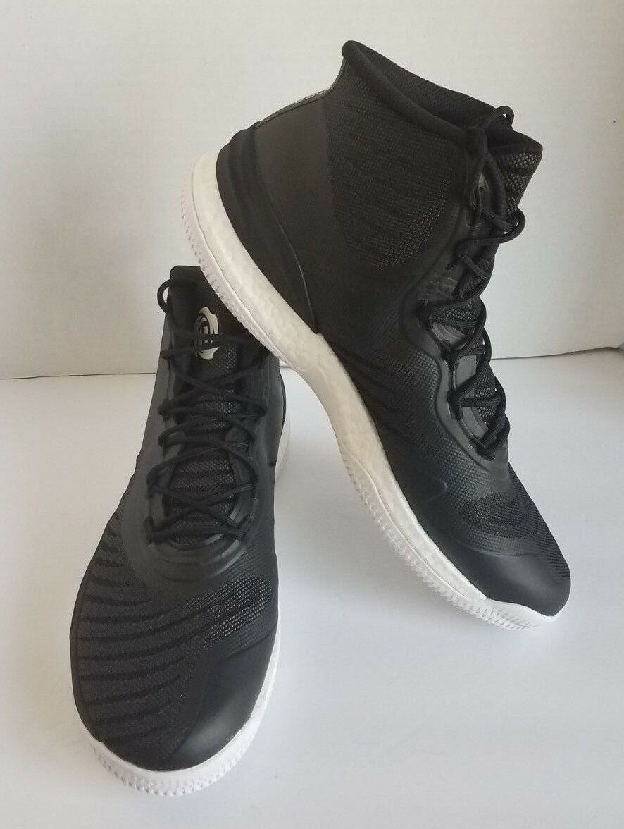 Adidas Mens D pink 8 Boost Basketball shoes CQ1619 Black White Derrick pink