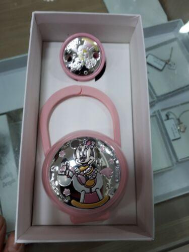 1 porta ciuccio e catena pinza neonato sfoglia argento 925 brings baby pacifier
