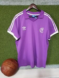2806614d7 NEW MEN S ADIDAS ORIGINALS REAL MADRID RETRO JERSEY PURPLE WHITE ...