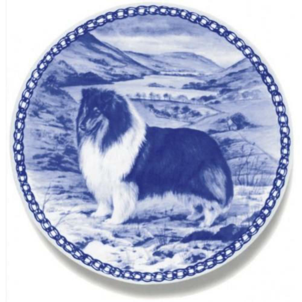 Collie  Rough Tricolour  Dog Plate made in Denmark from the finest European Po
