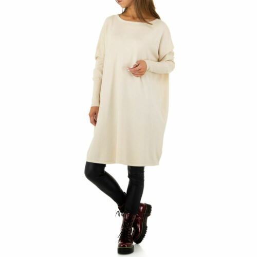 OVERSIZE WOLLMIX DAMEN PULLOVER ONE SIZE Creme 5824