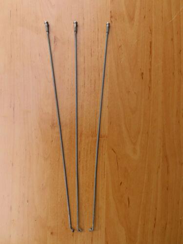 4 St Fahrrad Speichen mit Nippel länge 298 mm stärke 2 mm