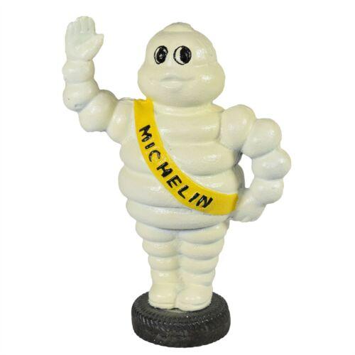 Michelin Mann winkte auf Reifen Maskottchen Bibendum Gusseisen Münzen Bank Box