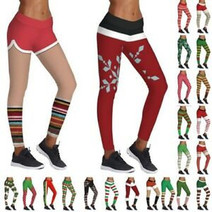 Christmas Running Leggings.Details About Womens Yoga Exercise Pants Gym Sport Leggings Running Fitness Trousers Christmas