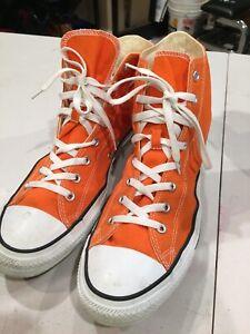 orange converse high tops mens