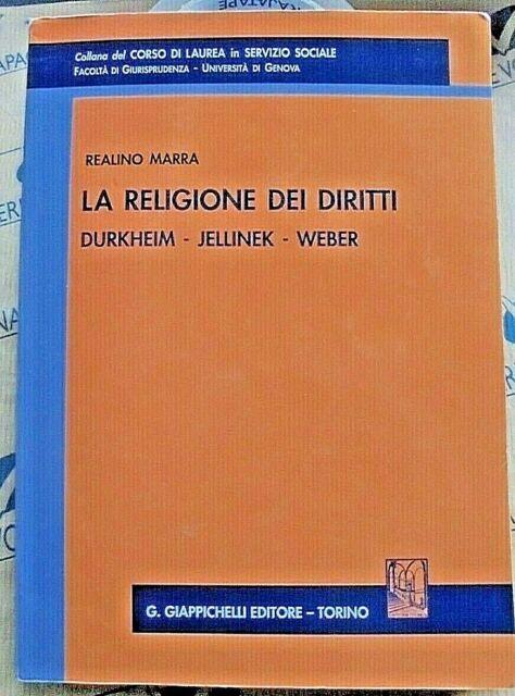 LA RELIGIONE DEI DIRITTI - REALINO MARRA - GIAPPICHELLI