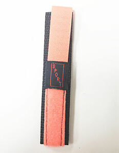 Hirsch-Nylon-Material-Smooth-Neon-Orange-18mm-Black-Color-SPORT-NOS-Watch-Band