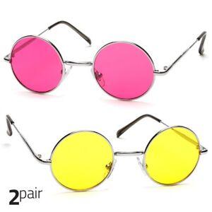 92d4779ac9f6 2 PC John Lennon Vintage Classic Circle Round Sunglasses Men Women ...