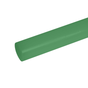 "High Density Polyethylene HDPE Green Plastic Rod .500"" 1//2/"" Dia x 48"" Length"