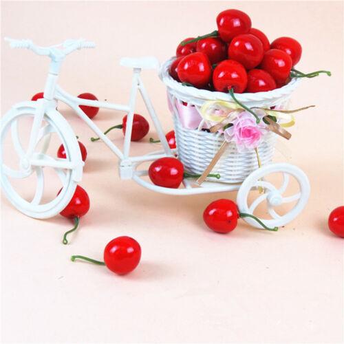 20Pcs Artificial Fake Cherry Fruit Food Wedding Party House Decorative Decor M$T