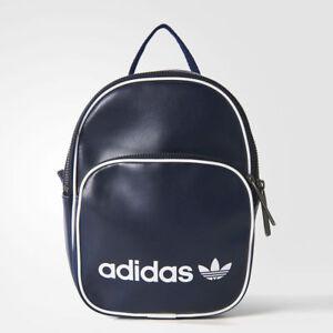 Details about Adidas Originals Classic Vintage Mini Backpack Legend Ink Bag BQ8099