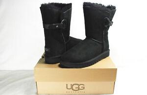 f7ea0ce571e Details about UGG NASH SUEDE & SHEARLING BOOTS, BLACK, WOMEN'S 7, NIB