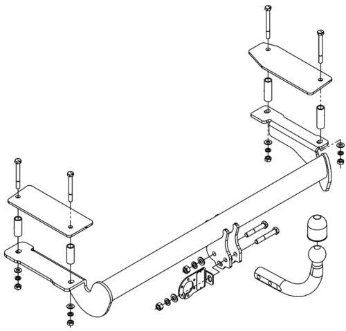AutoHak Anhängerkupplung für Opel Astra G Fließheck 98-04 starr 13pol spezifisch