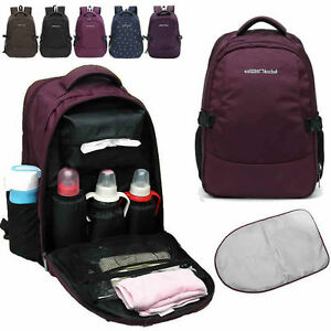 Water-Resistant-Baby-Diaper-Bag-Backpack-Changing-Bag-Mother-Bag-Changing-Pad