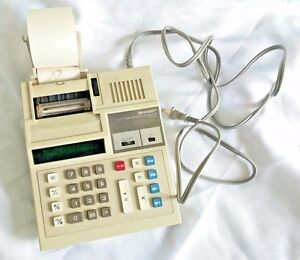 VINTAGE SHARP WORKING CALCULATOR EL 1182 S Electronic Printing PAPER 120V  Table | eBay