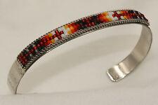 Navajo Indian Made Silver & Beaded Bracelet