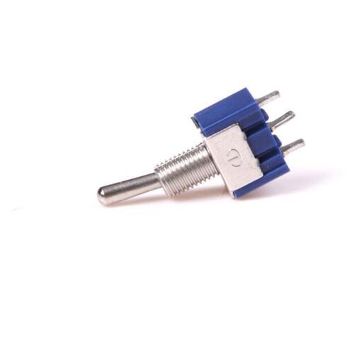 5 PCS on-off-on 3pin 3Position mini interruptor de palanca de bloqueo AC 125V//6A