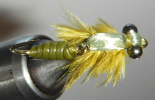 Jointed Olive Dragonfly Nymph SIZE 8 per 3 WIGGLE BUG!