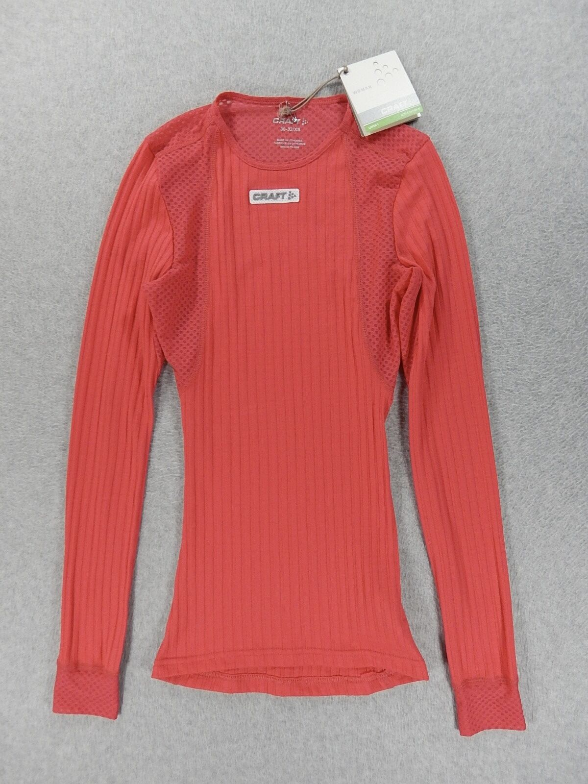 NWT Craft Active Extreme Concept Long Sleeve Base Layer (Womens XS) Pink