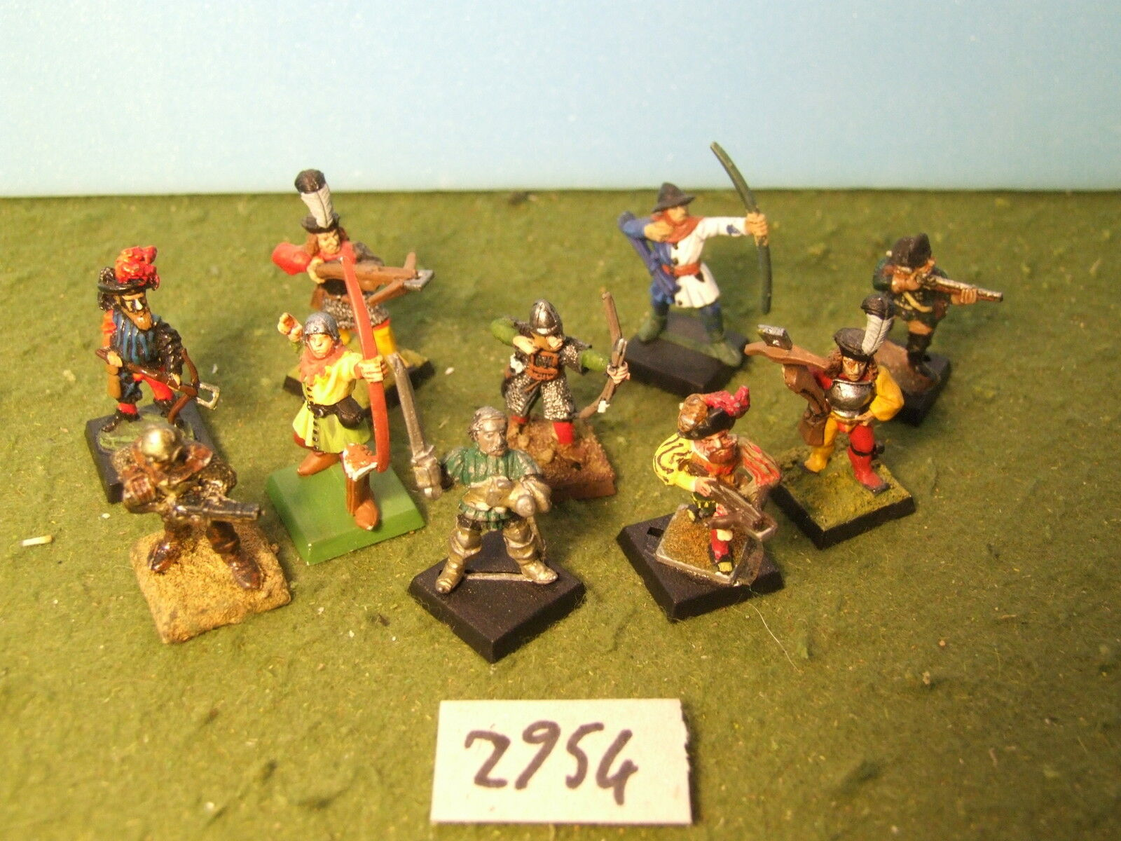 Mordheim warband 10 archers metal painted (2954) fantasy warhammer