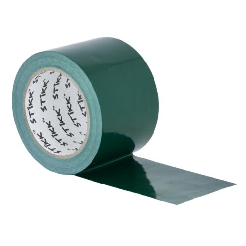 """3/"""" x 25 yd 7.5 Mil Thick Forest Green Duct Tape PE Coated Weather Resistant 72mm"""
